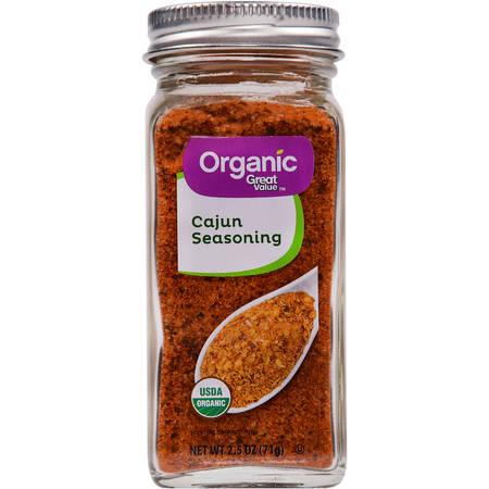 Hot Cajun Seasoning - (2 Pack) Great Value Organic Cajun Seasoning, 2.5 oz