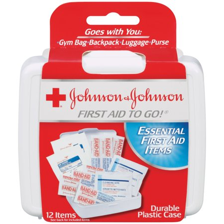 (2 pack) Johnson & Johnson First Aid To Go! Travel Kit, 12 (Johnson & Johnson Non Stick)