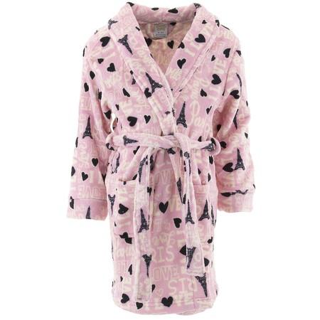 Sweet-N-Sassy Girls Love Paris Pink Fleece