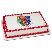 PJ Masks Its Time To Be A Hero 75 Round Sheet Image Cake Topper Edible