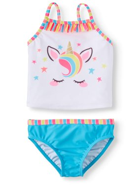 Unicorn Tankini with Ruffles (Toddler Girls)
