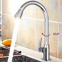 Product Image ❤ Clearance ❤ 360 Degree Stainless Steel High Arch Gooseneck Spout Single Handle Sink