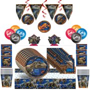 Jurassic World Fallen Kingdom Mega Party Supplies Kit for 16 Guests - Shipped Fedex Express