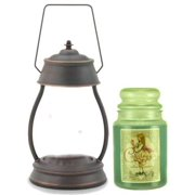 Hurricane Oil Rubbed Bronze Candle Warmer Gift Set - Warmer and Courtneys 26 oz Jar Candle - PEPPERCORN