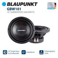 """Blaupunkt 10"""" Single Voice Coil Subwoofer with 600W Power (GBW101)"""