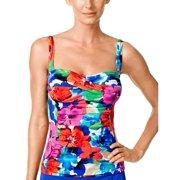 5ba6578d4bcdc Swim Solutions Womens Sedona Floral Print Tankini Top 18 Multi Swimsuit