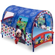 Disney Mickey Mouse Plastic Toddler Bed with Tent by Delta Children