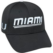 pretty nice 7122e 94c70 University Of Miami Hurricanes Black Baseball Cap