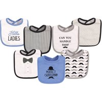 Hudson Baby Boy and Girl Cotton Drooler Bib, 7-Pack - Perfect Gentleman