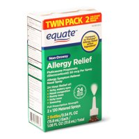 Equate Non-Drowsy Allergy Relief Nasal Spray, 2 x 120 Metered Sprays
