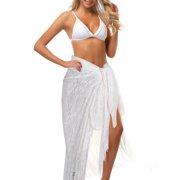 5a80e9716e Women Swimwear Cover Up Tassel Mesh Multi Way Wrap Beach Sarong Pareo Swim  Skirt Dress Loose