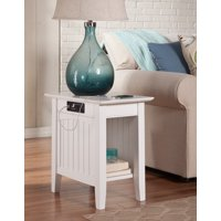 Nantucket Chair Side Table with Charging Station in Multiple Colors