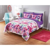 Your Zone Printed Watercolor Floral Comforter Set, 1 Each