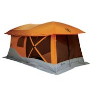 Gazelle Tents T4 Plus Outdoor Pop Up 8 Person Hub Tent With Screen Room Orange