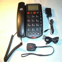 Senior Elderly Line Life Guardian Medical Alert System Telephone with Necklace Panic Button NO MONTHLY FEES PAVDII