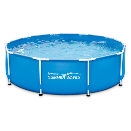 Summer Waves 10 X 30 Metal Frame Above Ground Swimming Pool