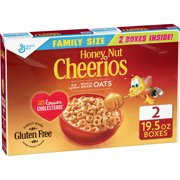 (2 Pack) Honey Nut Cheerios Cereal Family Size