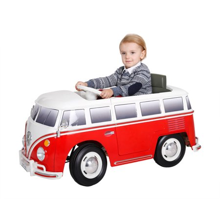 Rollplay VW Type 2 Bus 6-Volt Battery-Powered Ride-On