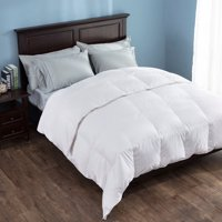 Puredown Heavy Fill White Goose Down Comforter 700 Thread Count Eygptian Cotton, 600 Fill Power, Gusset Sides, King Size, White