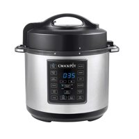 Crock-Pot 6 Qt 8-in-1 Multi-Use Express Crock Programmable Slow Cooker, Pressure Cooker, Saute, and Steamer, Stainless Steel
