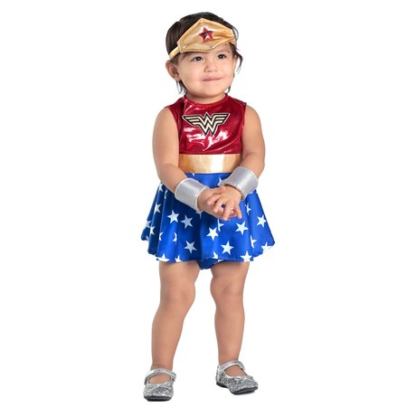 Baby Wonder Woman Dress & Diaper Cover Set Costume](Coven Costumes)