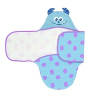 Disney Monsters Inc Sulley Embroidered Hooded Bath Swaddle