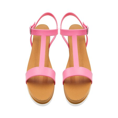 - Sara Z Ladies PCU Sandal with Side Buckle 11 Mid Pink