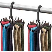aef24e80c8bb Spinning Tie Rack and Belt Hanger (2 Pack) Ultimate Hanger Holder Hook for  Storing