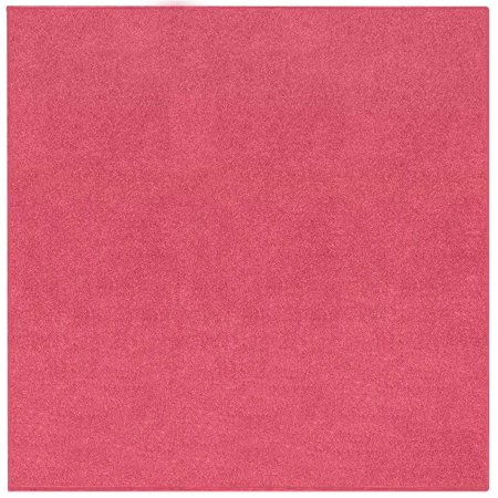 Solid Color Collection - Broadway Collection Solid Color Area Rugs Pink - 4' Square