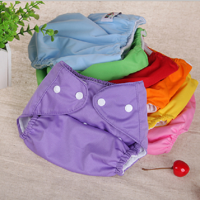 6Pack Reuseable Washable Adjustable One Size Baby Pocket Cloth Diapers Nappy Random Color