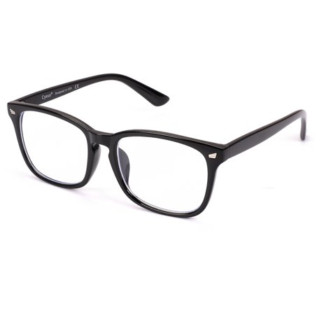 Cyxus Blue Light Blocking Computer Glasses for UV420 Protection Anti Eyestrain Headaches, Black Classic Frame Unisex(Men/Women) Eyewear (Big Glasses Frames)