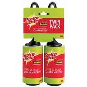 Scotch-Brite Lint Roller Twin Pack, 65 Sheets per Roller