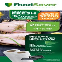 "FoodSaver 11"" x 16' Vacuum Seal Roll, 2 Pack"