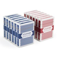 Brybelly Playing Cards, 12-pack (6 Red/6 Blue), Wide Size, Jumbo Index
