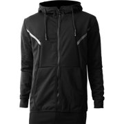 1e4fe3d6f70 Mens Tracksuit Zip Up Hoodie Jacket and Jogger Pants Slim Fit Premium  Casual Athletic Active Training