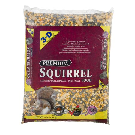 3-D Pet Products Premium Dry Squirrel Food, 10 lbs. (Hamster Pet Food)