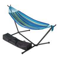 Mainstays Wapella Stripe Hammock and Stand in a Bag