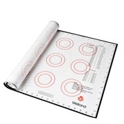 "WELLAND 25"" x 15"" Silicone Flexible Pastry Mat with Measurements"