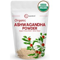 Premium Pure Organic Ashwagandha Root Powder, Herbal Supplement That Promotes Vitality & Strength - Support for Stress-free Living, 8oz (227g)