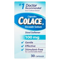 Colace Docusate Sodium Stool Softener, 100mg, 30 count