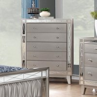 Coaster Company Leighton 5 Drawer Chest, Metallic Mercury