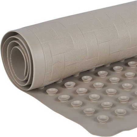 Mainstays 18 In. x 36 In. Rubber Bath Mat, Taupe ()