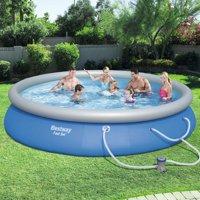 "Bestway Fast Set Swimming Pool Set with 530 GPH Filter Pump, 15' x 33"""