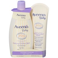 Aveeno Baby Calming Comfort Bath & Lotion Set for Bedtime, 2 Items