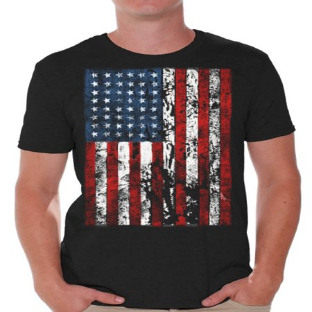 Awkward Styles American Flag Distressed T Shirts for Men USA Shirt USA Flag Men's Tshirt Tops for Independence Day 4th of July Shirts for Men Patriotic Outfit Fourth of July Gifts - Father Christmas Outfits For Mens