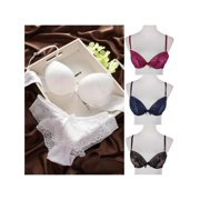 1c34aab9d180 MarinaVida Women's Ladies Lace Bra Sets Cotton Embroidery Push Up Bra and Panties  Underwear