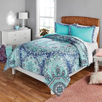 Your Zone Medallion Print Comforter and Sham Set