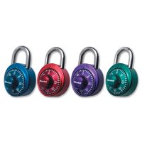 Master Lock Padlock 1530DCM Combination Dial with Aluminum Cover, 1-7/8in (48mm) Wide, Assorted Colors
