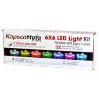 KapscoMoto Motorcycle LED 15 Color LED Engine Accent Light Tube Kit - with 1x Wireless Remote - Universal Fit - All Bikes, Harley, Cruisers, Honda, Suzuki, Kawasaki, Yamaha