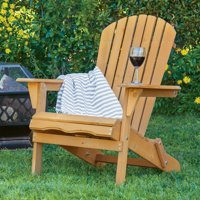 Best Choice Products Outdoor Adirondack Wood Chair Foldable Patio Lawn Deck Garden Furniture